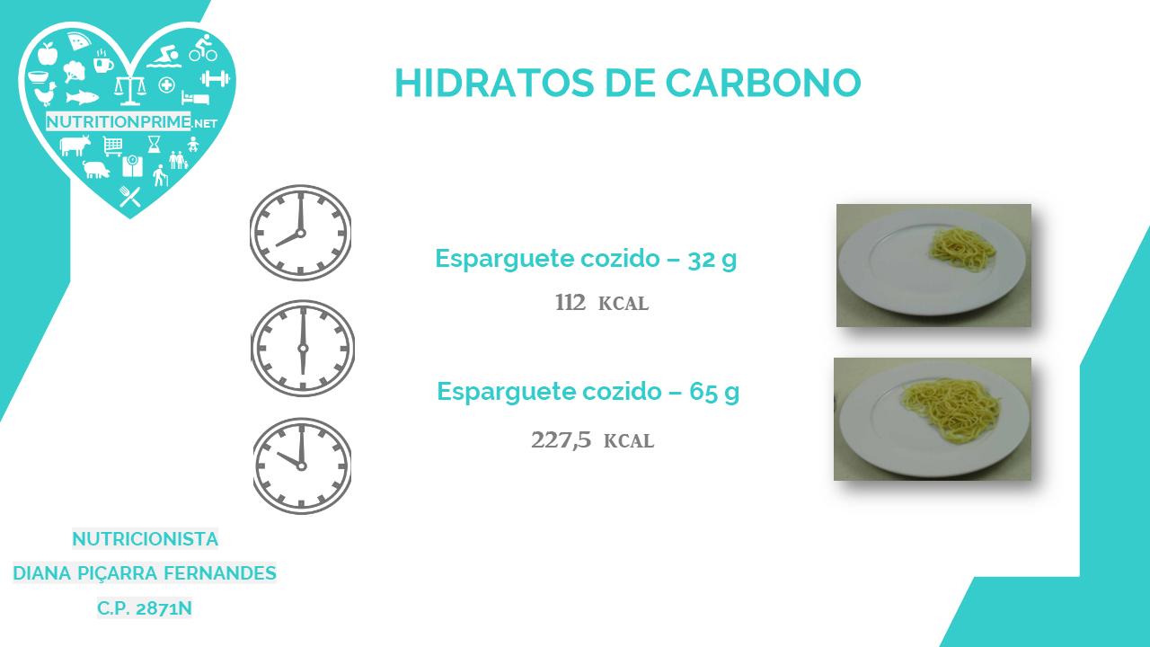 Consumo de hidratos de carbono no jantar!! 🍚🍫💙